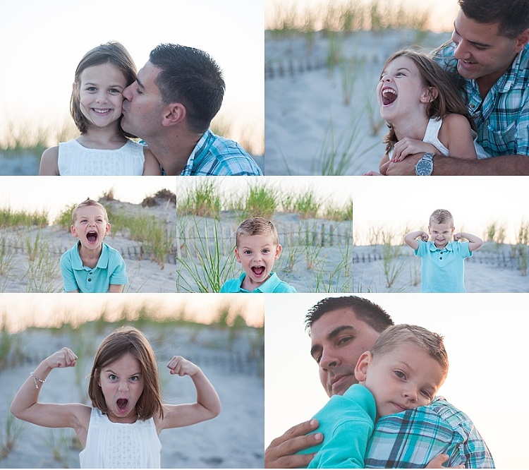 beach portraits at the jersey shore