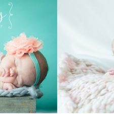 cute baby girl during newborn photo session. Photos by Karrie Davis Photographer