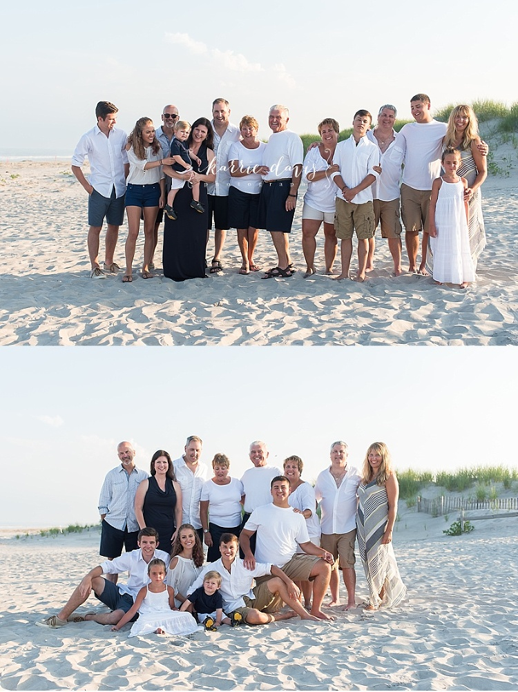 Ideas for family photos at the beach and what to wear