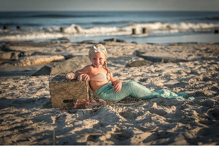 Cute mermaid costume- South Jersey beach