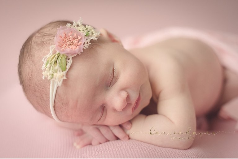 Cute Baby Girl Newborn Pictures in NJ