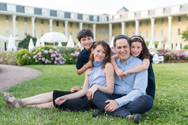 family of four vacation at Congress Hall